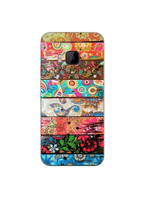 People's Cover HTC One M9 Kabartmalı Telefon Kılıfı Renkli